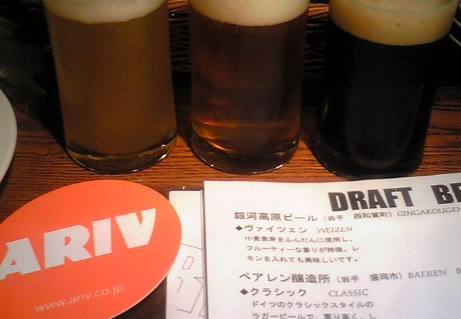 銀河高原ビール飲み比べ