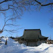 紋別市役所の北側にあるお寺