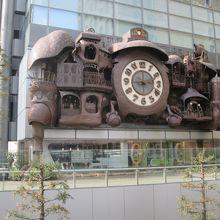 大時計の下は日本テレビのスタジオです