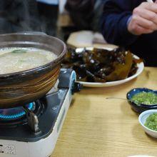 わさびスープ小鍋