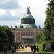 サンスーシ宮殿から、歩いていくことを お勧め