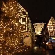 「デューラーの家」前の広場はクリスマス夜景が素晴らしい♪