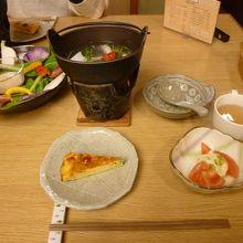 京野菜がふんだんに使われています。