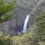 落差の大きい滝です。