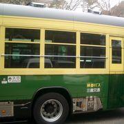 素敵なカラーの神都バス。