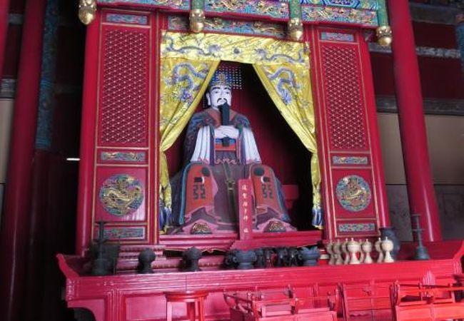 (曲阜)孔子の一番弟子、顔回を祀った廟