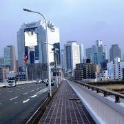 十三大橋よりはかなり通行自動車が少ない新十三大橋(しんじゅうそうおおはし)