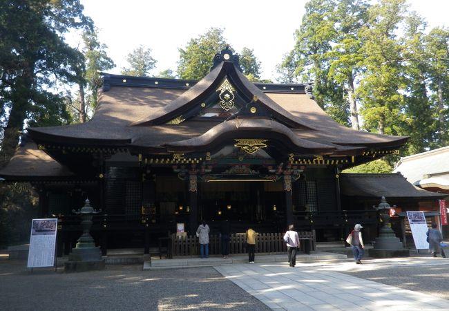 国の重要文化財に指定されている本殿