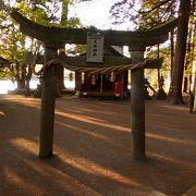 金鱗湖ほとりの小さな神社