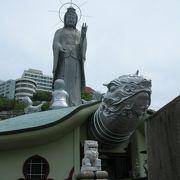 ガメラが長崎の街を見下ろしています。