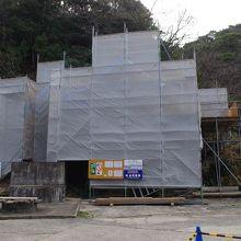 残念ながら恵美須神社は解体調査中でした