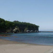 鴎島のところにあります