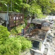 川治温泉の対岸にある日帰り温泉です