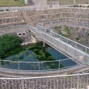 建物内の展示だけでなく、屋外の水位観測施設も見学を