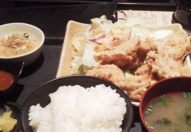 """お昼の""""じゅーしー唐揚げ""""を「天ぷら串 ぼい助」~葛西~"""