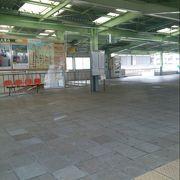 かつてはモンキーパークとモノレールで繋がっていた駅
