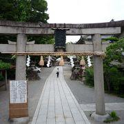 茨木市のほぼ中央にある神社