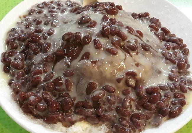 小豆みるくかき氷