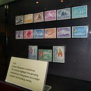 切手と共にシンガポールの歴史が分かります