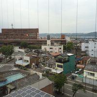 お部屋からは和歌山市駅が見えました。
