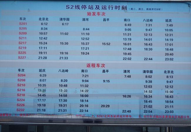 和諧長城号 (八達嶺~北京)