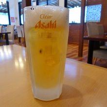 ノンアルコールビールも、冷えたジョッキで