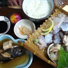 親父の釣った魚定食