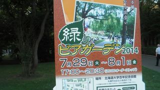 北海道大学 緑のビアガーデン