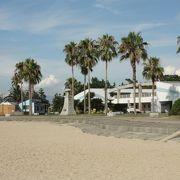 伊予市にある白砂が美しい海水浴場