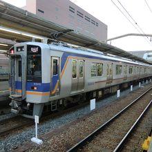自由席はこのような普通の電車です。