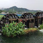菱野に残る三連水車