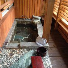 客室付の露天風呂