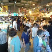 混雑必至の魚市場