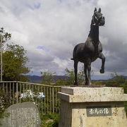 しっかりお馬さんが「赤馬の碑」~石垣~