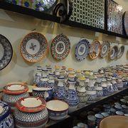 モロッコ陶器いっぱい