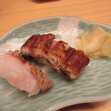お寿司 (のどぐろ、ウナギ)