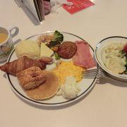 朝食ブッフェが美味しい