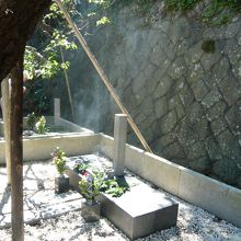 手前が藤村の墓です。奥は静子夫人の墓です。