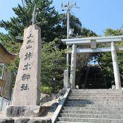 明かし駅からほど近い高台の神社