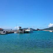座間味港:田舎の雰囲気を想わせる港