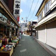 岩畳に近い長瀞・旅館養浩亭周辺