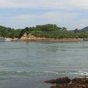 凄く早い潮流の中にある能島水軍の城があった島