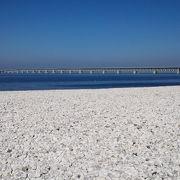 関空を見ながら白いビーチでのんびり