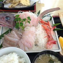 深海魚! ゲボウのお刺身定食