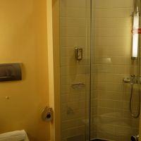 シャワーは固定式ではなく可動式
