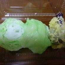 天ぷら1種+レタス