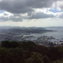 港町が見渡せました