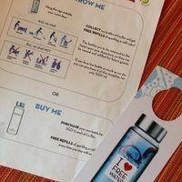 ボトルをレセプションで借りて、毎日水を補充してもらえる。