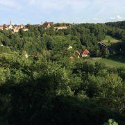 ローテンブルクの街が高台にあることを実感。