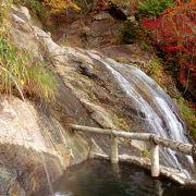 秘湯です、滝を眺めながらの露天風呂が最高です